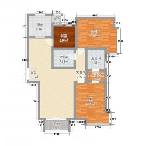 三联北尚3室1厅2卫1厨13127.00㎡户型图