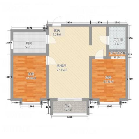 三联北尚2室1厅1卫1厨229.00㎡户型图