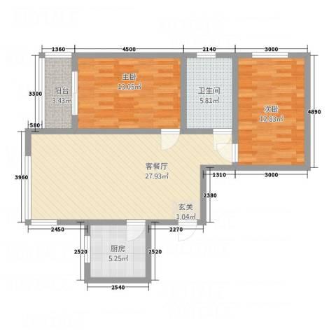 三联北尚2室1厅1卫1厨327.00㎡户型图