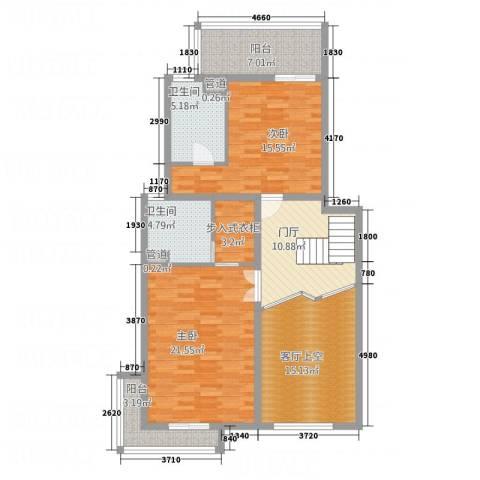 中源国际2室0厅2卫0厨125.00㎡户型图
