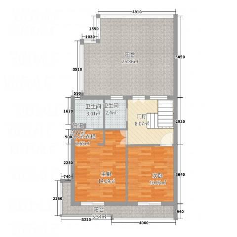 中源国际2室0厅2卫0厨98.00㎡户型图
