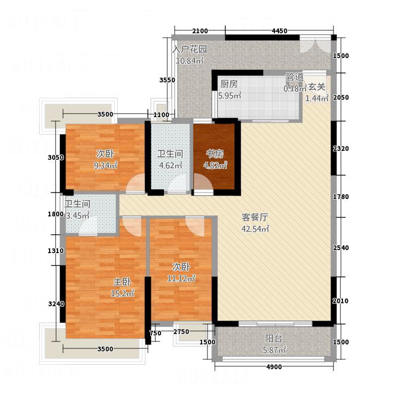 帝景豪庭141.00㎡R3A/C户型4室2厅2卫1厨