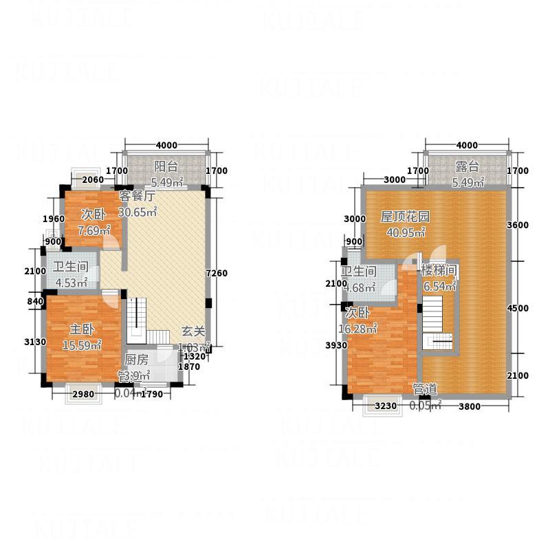 禾嘉名邸121.87㎡J4跃户型3室2厅2卫1厨