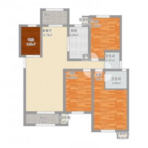 东方米兰国际城4室1厅2卫1厨143.00㎡户型图