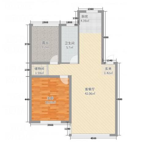 宗裕・悦鑫国际1室1厅1卫0厨89.00㎡户型图