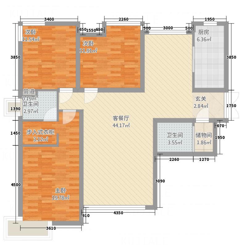 北美金棕榈3#、4#楼A栋标准层户型