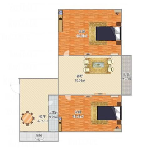 河沿巷2室2厅1卫1厨381.00㎡户型图
