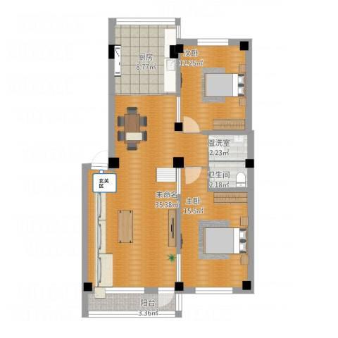 中天御景湾2室1厅1卫1厨115.00㎡户型图