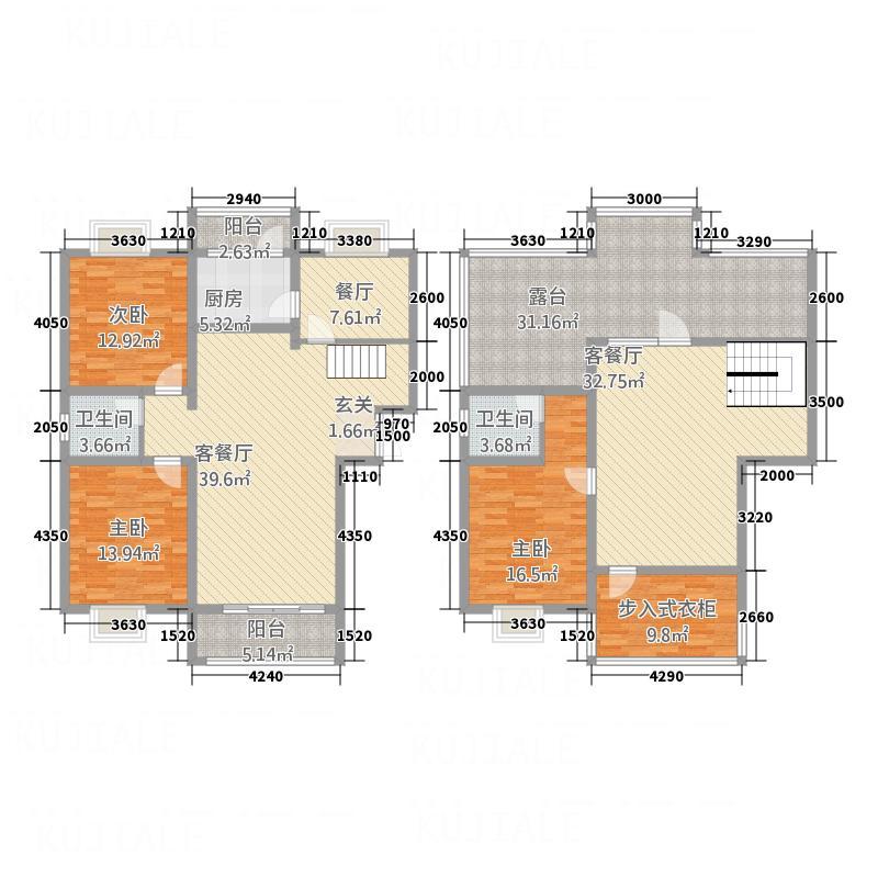 中房印象124.78㎡展板1副本户型5室3厅2卫1厨