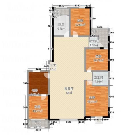 天一华府5室1厅2卫1厨147.21㎡户型图