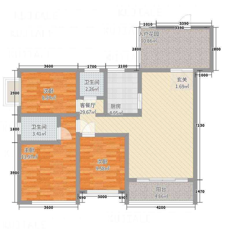 桃园公寓户型3室
