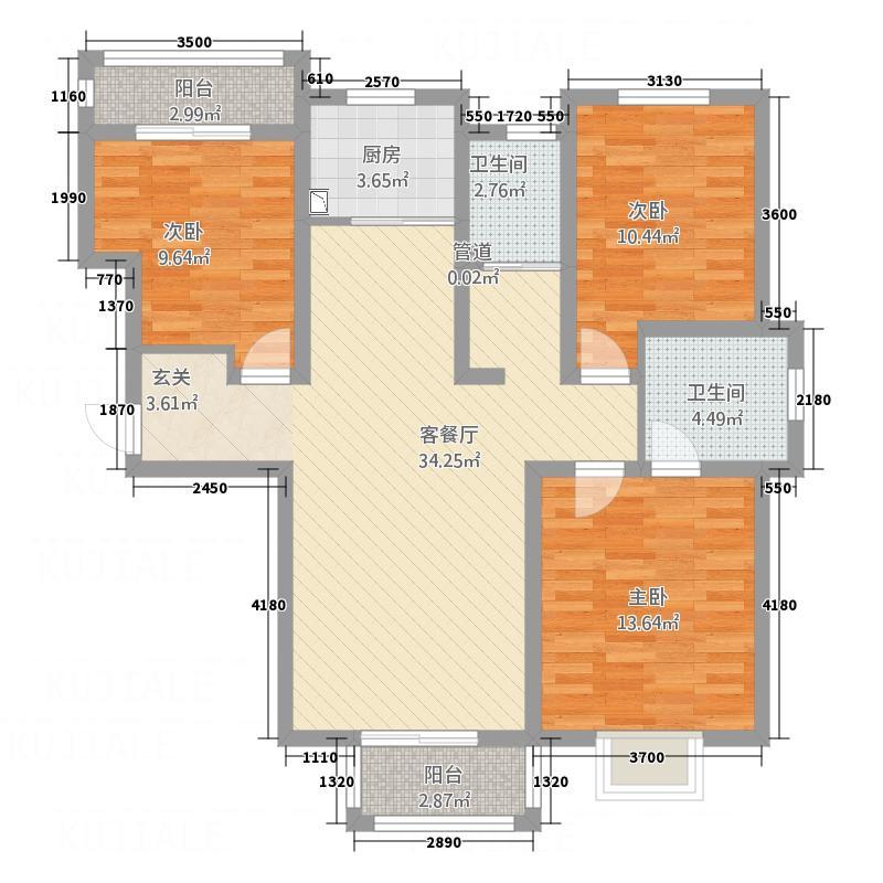 磁带厂家属院123.00㎡户型3室