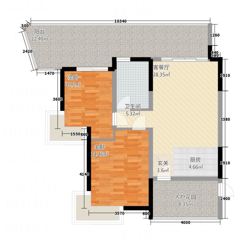 海洋小区户型2室