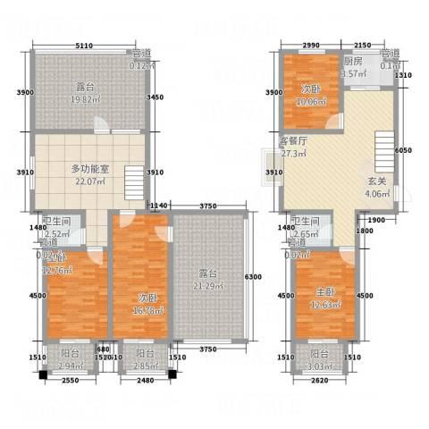 署西嘉园4室1厅2卫1厨230.00㎡户型图