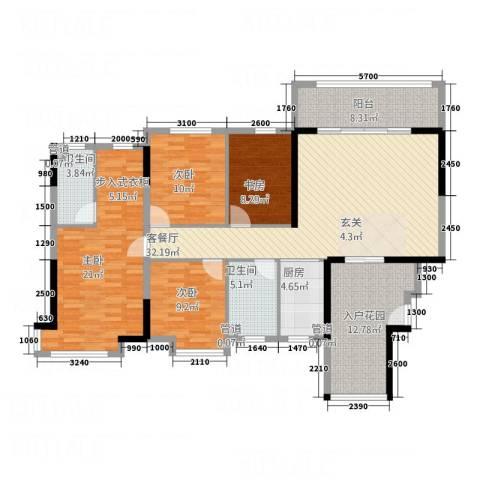 碧桂园・东江凤凰城4室1厅2卫1厨146.00㎡户型图