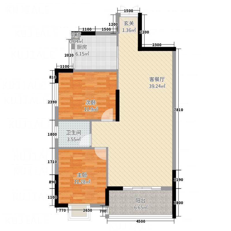 明城公馆8.60㎡C户型2室2厅1卫