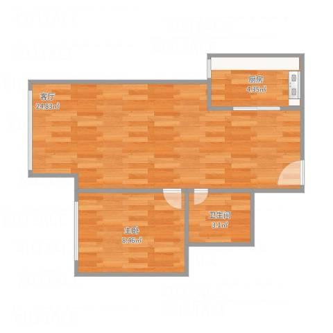 康泽佳苑1室1厅1卫1厨55.00㎡户型图