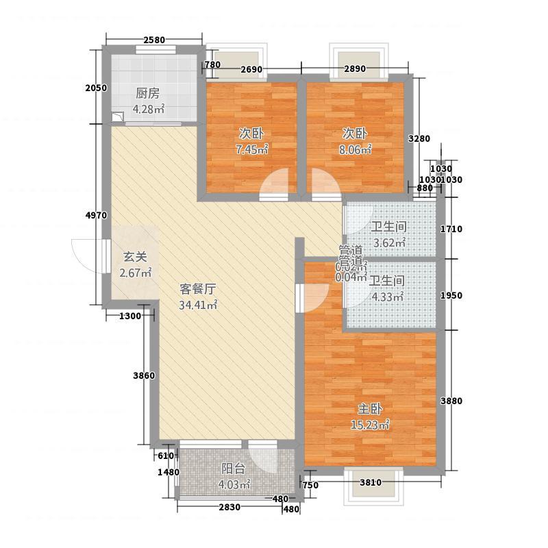 四季花语10#楼L2户型