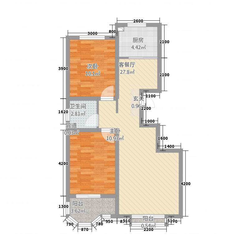 御宇・国际城8.58㎡A3-A-1户型2室2厅1卫1厨