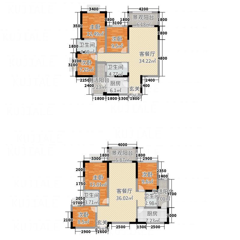 创宇・凤凰新城112.48㎡1户型3室2厅2卫1厨
