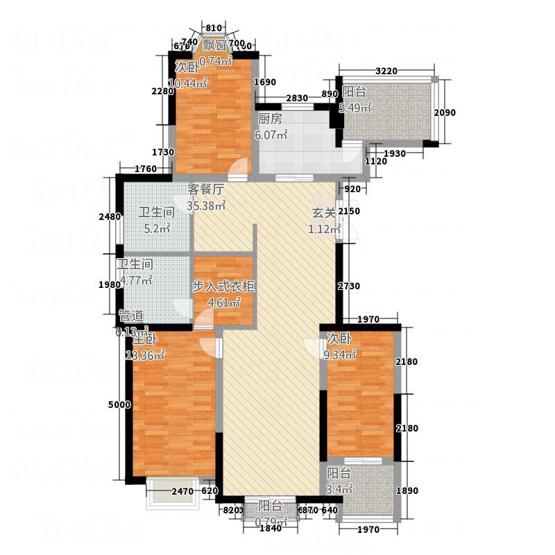 东方名苑二期15栋户型