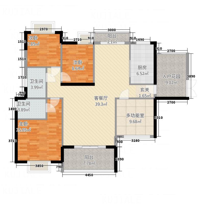 华达新城・融悦2户型4室2厅2卫