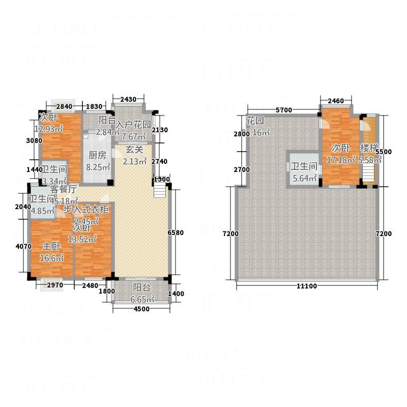 禾嘉名邸175.64㎡D跃户型4室2厅3卫1厨