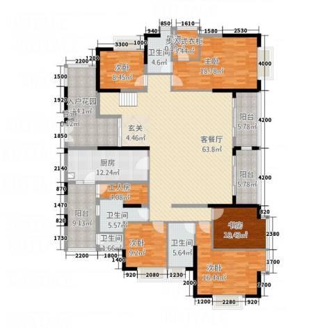 中天维港5室1厅4卫1厨245.00㎡户型图