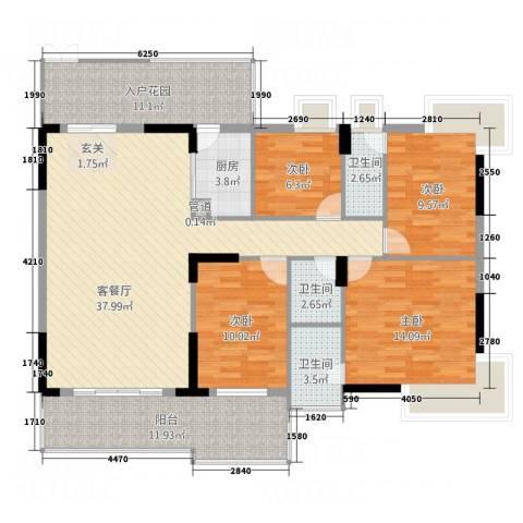 大唐盛世三期4室1厅3卫1厨164.00㎡户型图
