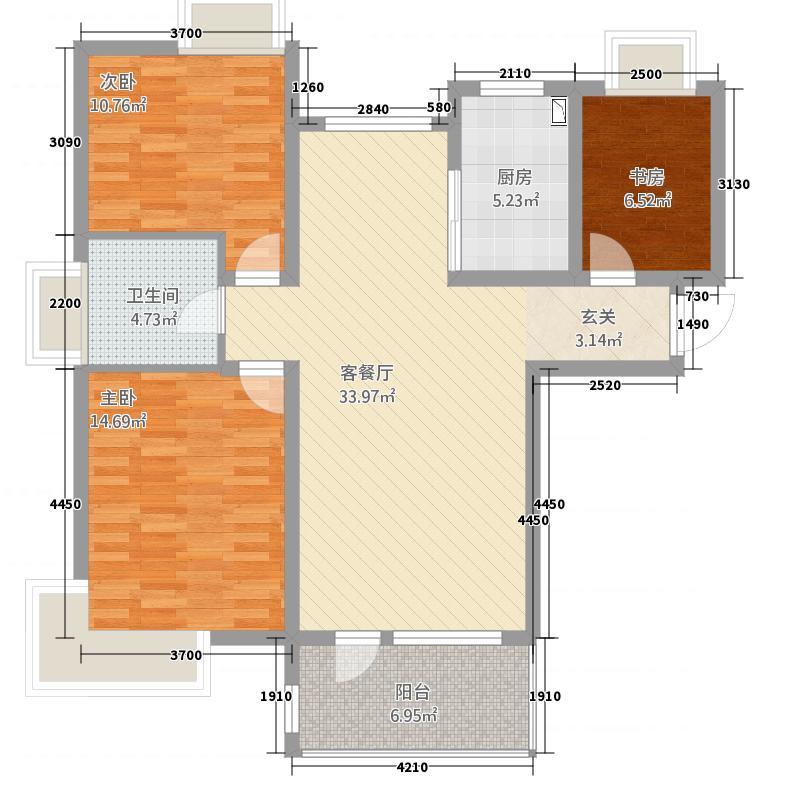 博泰魏玛峰尚118.00㎡户型3室