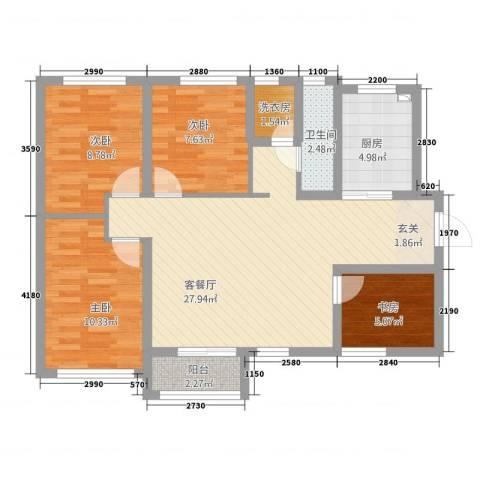 加州壹号4室1厅1卫1厨103.00㎡户型图