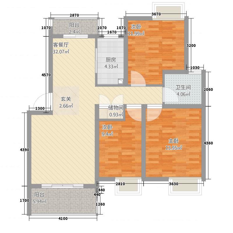 博泰魏玛峰尚122.00㎡户型3室