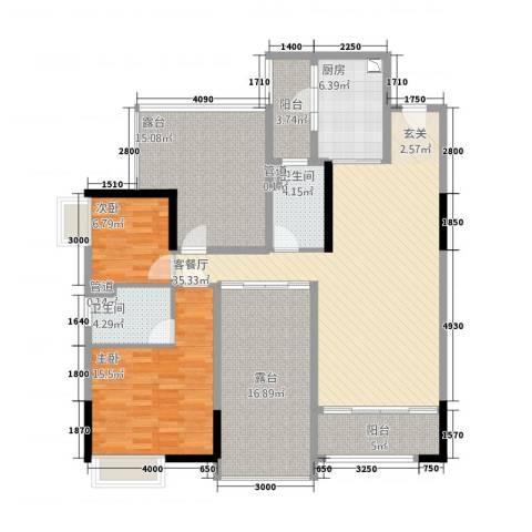 尚景轩2室1厅2卫1厨162.00㎡户型图