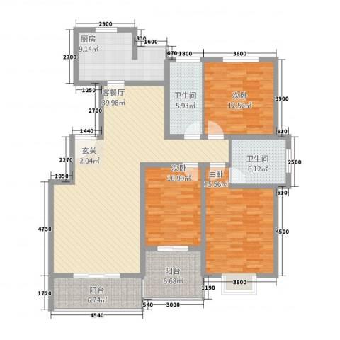 春城国际3室1厅2卫1厨1353147.00㎡户型图