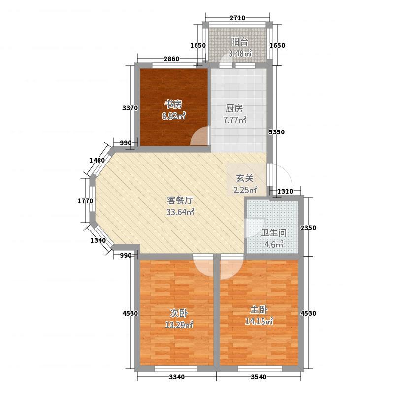 丽水云天4户型3室2厅2卫1厨