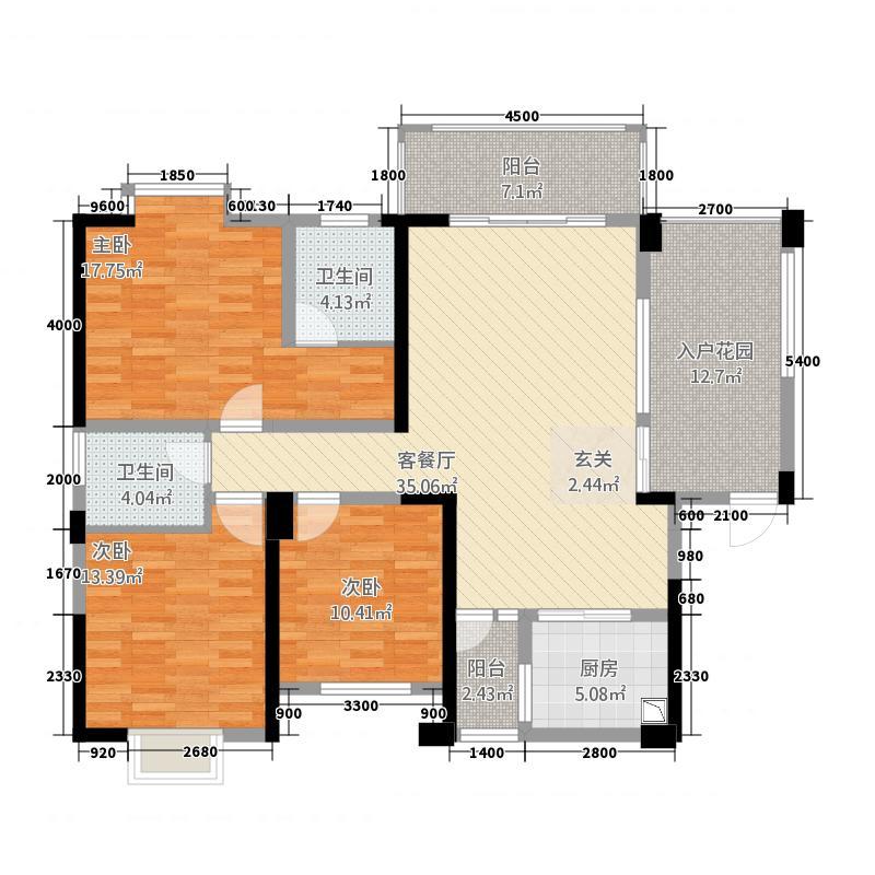 景翠名都户型3室
