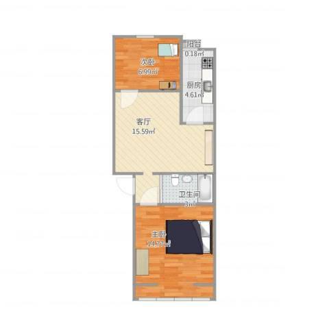 丰台区石榴园北里33-10-3022室1厅1卫1厨62.00㎡户型图