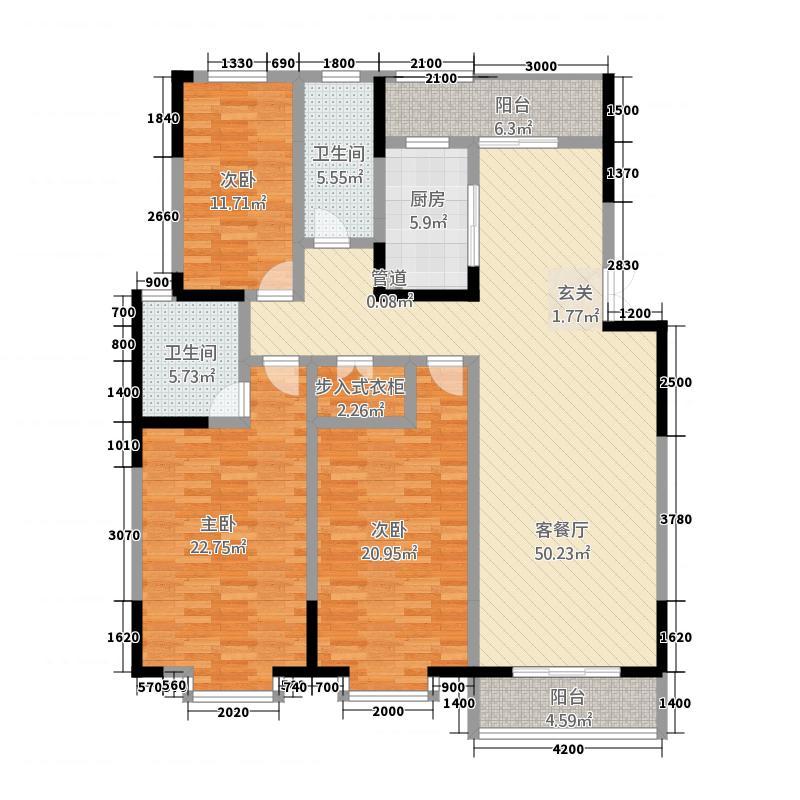 国祯家园178.86㎡B5户型3室2厅1卫