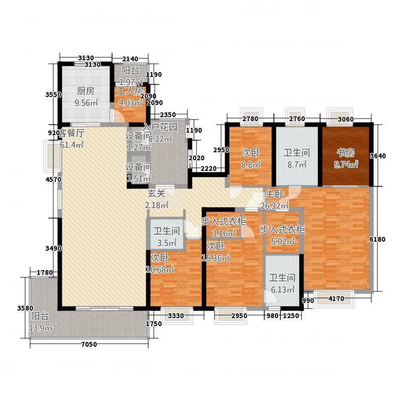 紫薇永和坊282.00㎡户型5室
