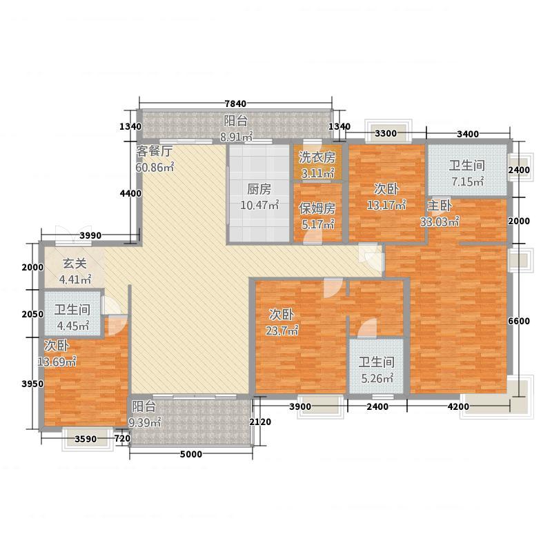 紫薇永和坊户型4室