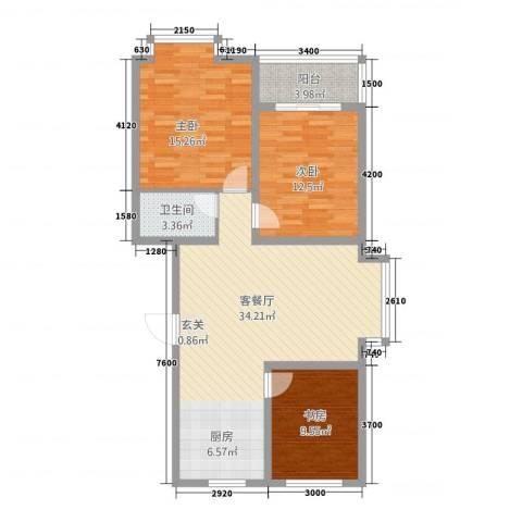 东方世纪城3室1厅1卫0厨112.00㎡户型图