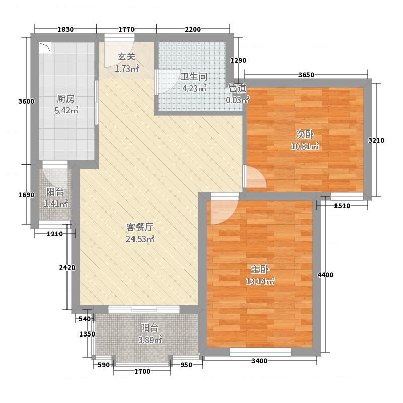 筑北商业大道小区_1户型2室2厅1卫1厨