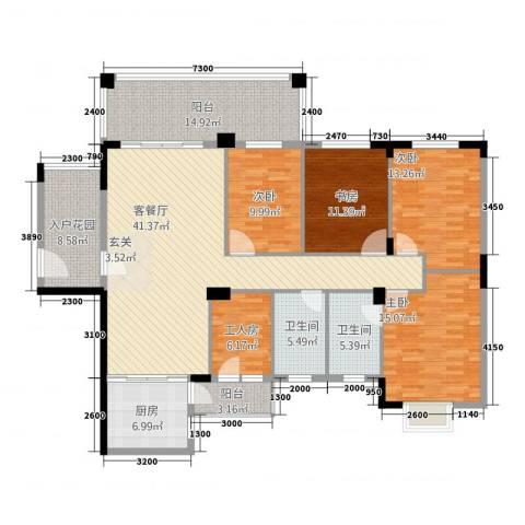 金麦苑4室1厅2卫1厨199.00㎡户型图