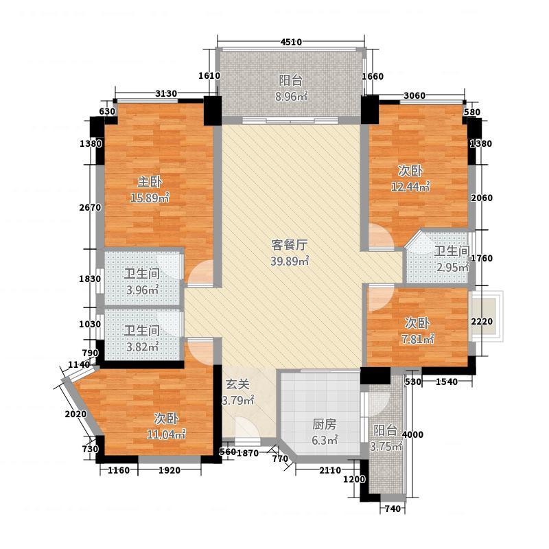 南山诗意151.50㎡6、7、13栋01、03户型4室2厅3卫