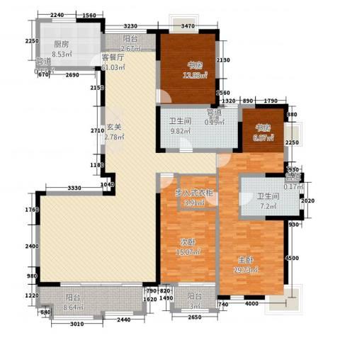 太阳都市花园3室1厅2卫1厨246.00㎡户型图