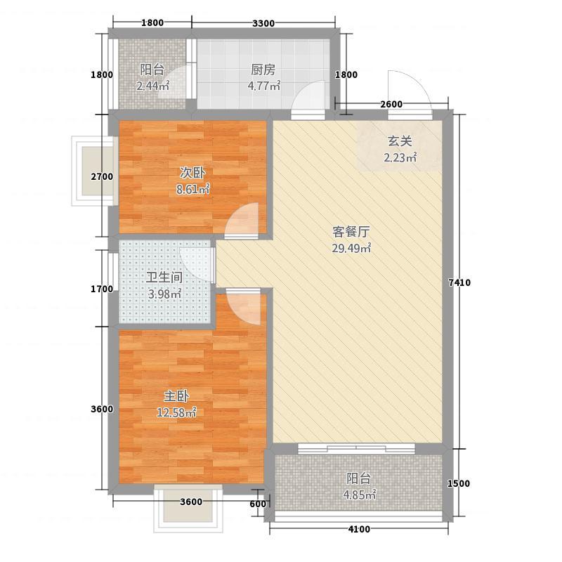 巨龙.国际巨龙国际9#楼A03和B03、05和C05户型2室2厅1卫1厨
