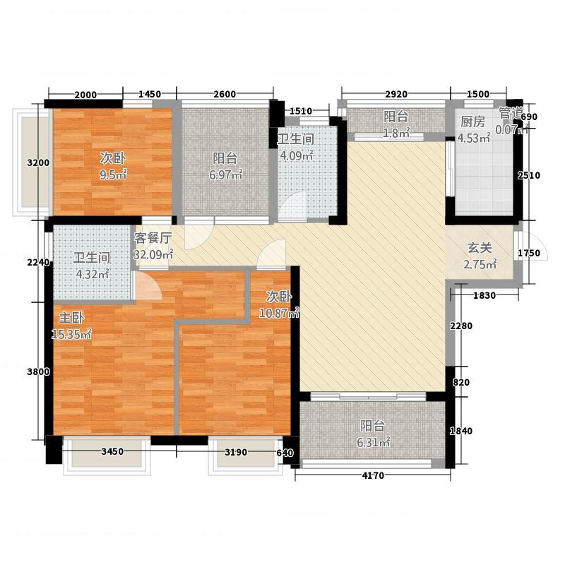 宝能城市广场二期住宅-插页3户型