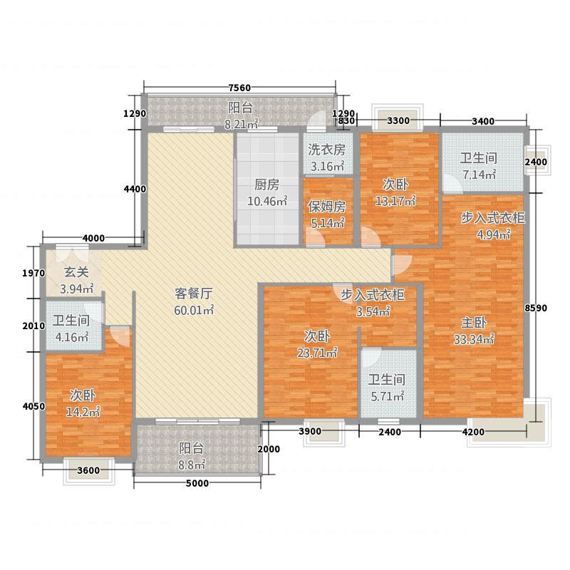 紫薇永和坊254.00㎡户型5室