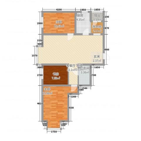 大商・中心城3室1厅1卫1厨112.00㎡户型图