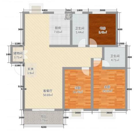 伯爵山庄3室1厅2卫0厨104.98㎡户型图